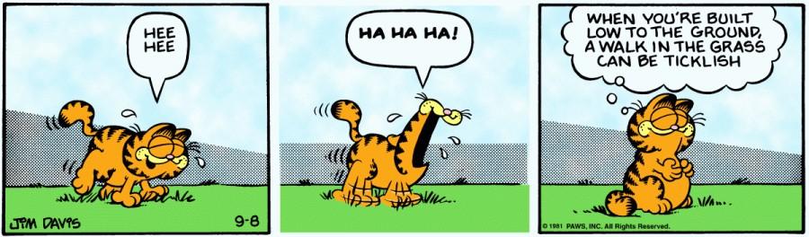 Оригинал комикса про Гарфилда от 08 сентября 1981 года