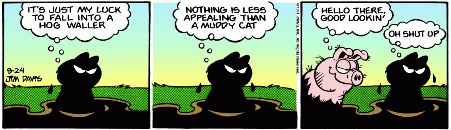 Оригинал комикса про Гарфилда от 24 сентября 1981 года