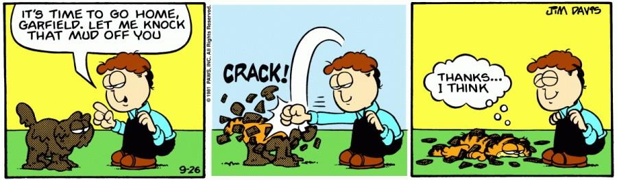 Оригинал комикса про Гарфилда от 26 сентября 1981 года