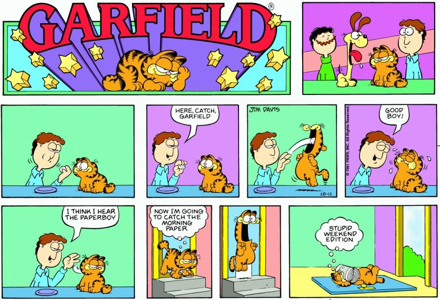 Оригинал комикса про Гарфилда от 11 октября 1981 года