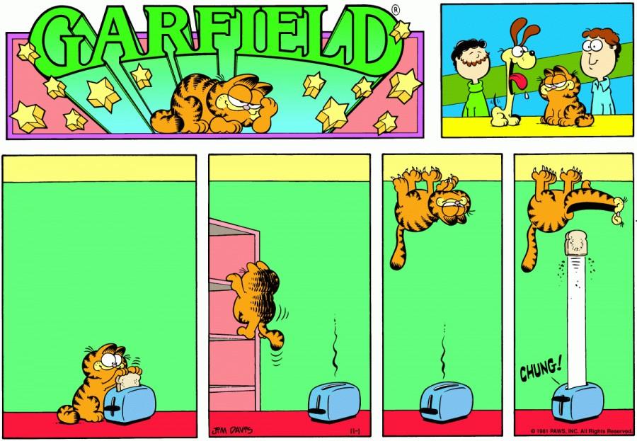 Оригинал комикса про Гарфилда от 01 ноября 1981 года