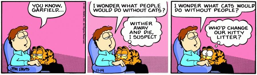 Оригинал комикса про Гарфилда от 14 ноября 1981 года