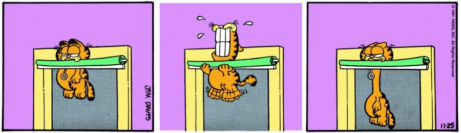 Оригинал комикса про Гарфилда от 25 ноября 1981 года