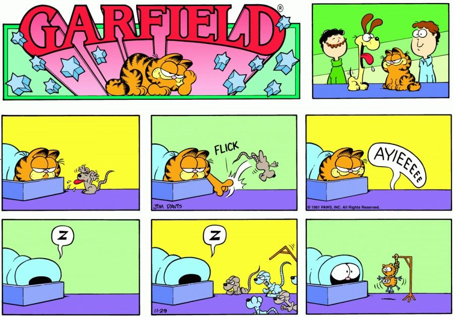 Оригинал комикса про Гарфилда от 29 ноября 1981 года