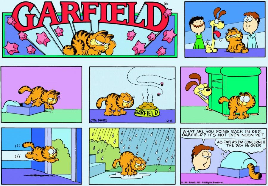 Оригинал комикса про Гарфилда от 06 декабря 1981 года