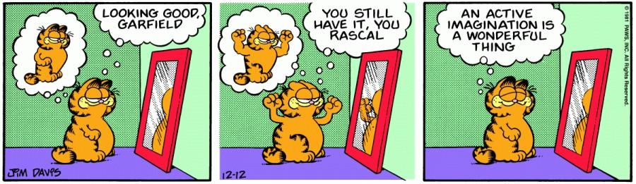 Оригинал комикса про Гарфилда от 12 декабря 1981 года