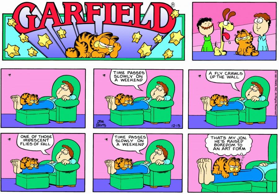 Оригинал комикса про Гарфилда от 13 декабря 1981 года