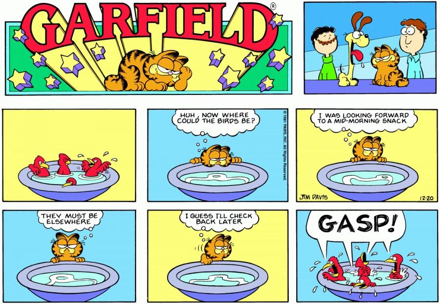 Оригинал комикса про Гарфилда от 20 декабря 1981 года