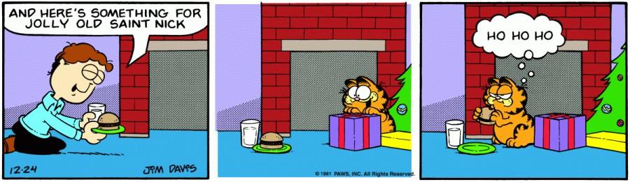 Оригинал комикса про Гарфилда от 24 декабря 1981 года