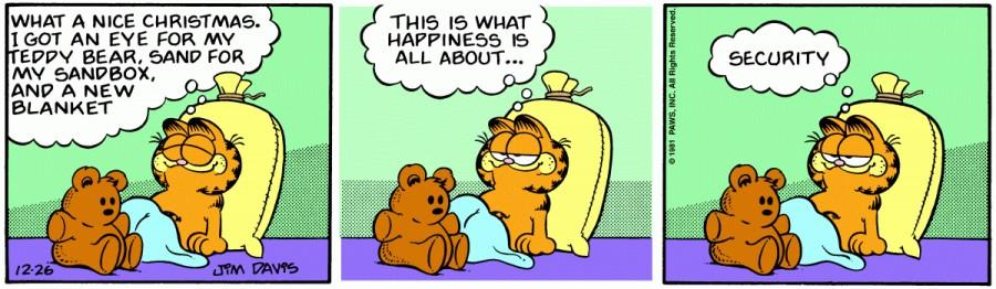 Оригинал комикса про Гарфилда от 26 декабря 1981 года