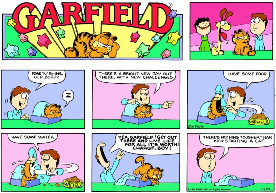 Оригинал комикса про Гарфилда от 03 января 1982 года