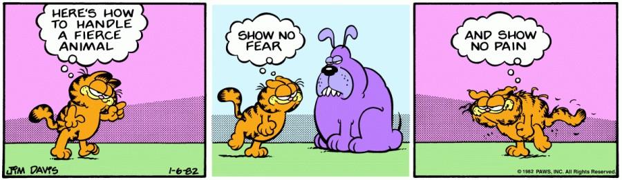 Оригинал комикса про Гарфилда от 06 января 1982 года