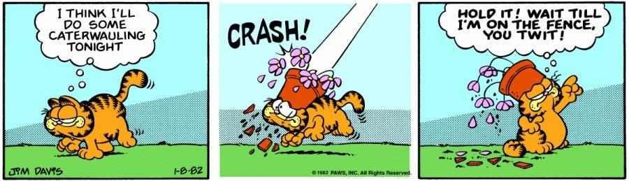 Оригинал комикса про Гарфилда от 08 января 1982 года