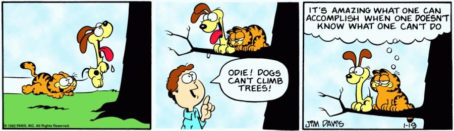 Оригинал комикса про Гарфилда от 19 января 1982 года