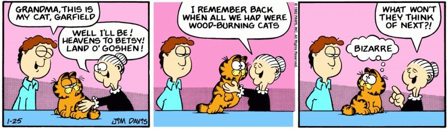 Оригинал комикса про Гарфилда от 25 января 1982 года