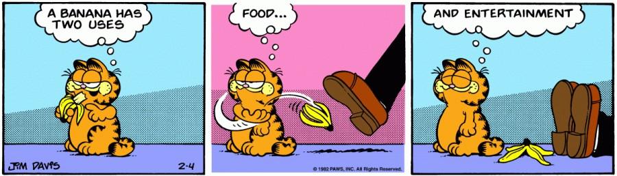 Оригинал комикса про Гарфилда от 04 февраля 1982 года