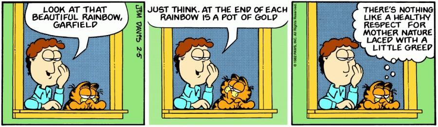 Оригинал комикса про Гарфилда от 05 февраля 1982 года
