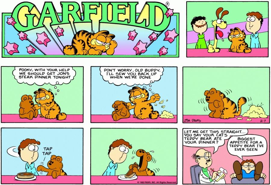Оригинал комикса про Гарфилда от 07 февраля 1982 года