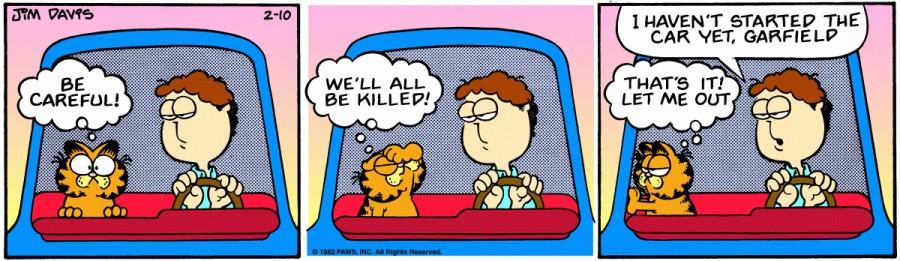 Оригинал комикса про Гарфилда от 10 февраля 1982 года