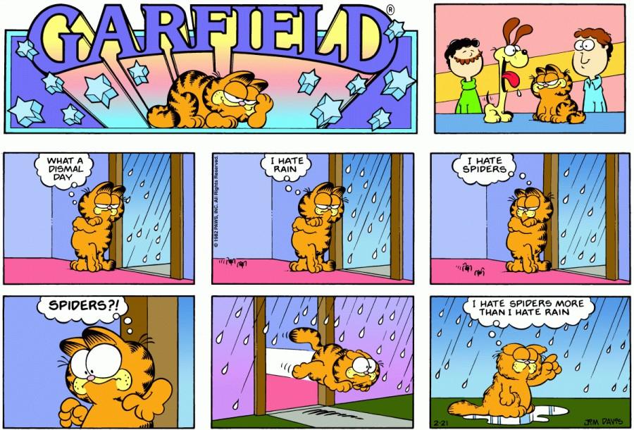 Оригинал комикса про Гарфилда от 21 февраля 1982 года
