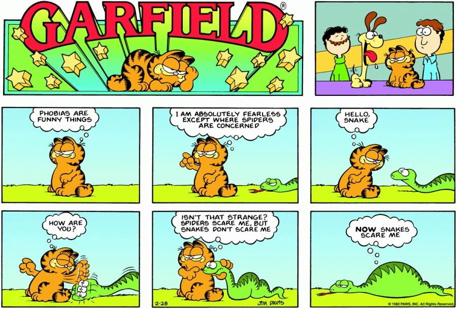 Оригинал комикса про Гарфилда от 28 февраля 1982 года