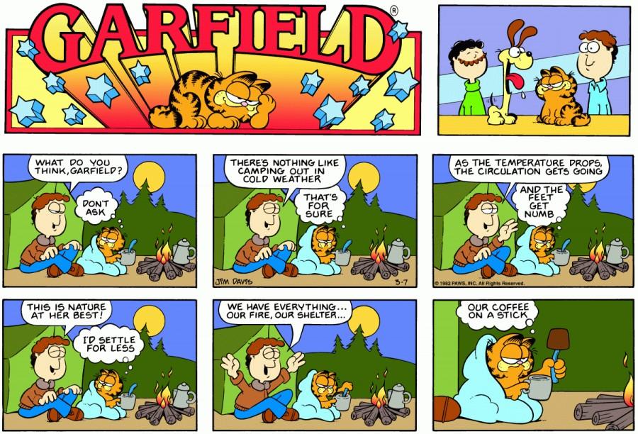 Оригинал комикса про Гарфилда от 07 марта 1982 года