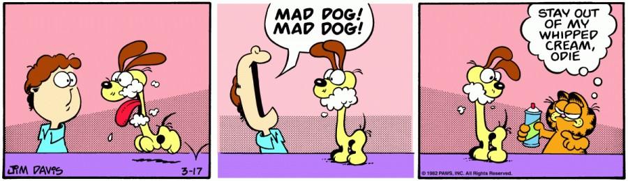 Оригинал комикса про Гарфилда от 17 марта 1982 года