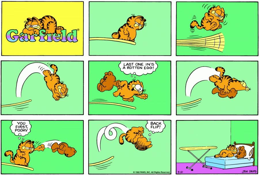 Оригинал комикса про Гарфилда от 21 марта 1982 года