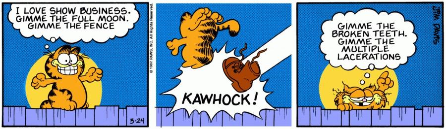Оригинал комикса про Гарфилда от 24 марта 1982 года