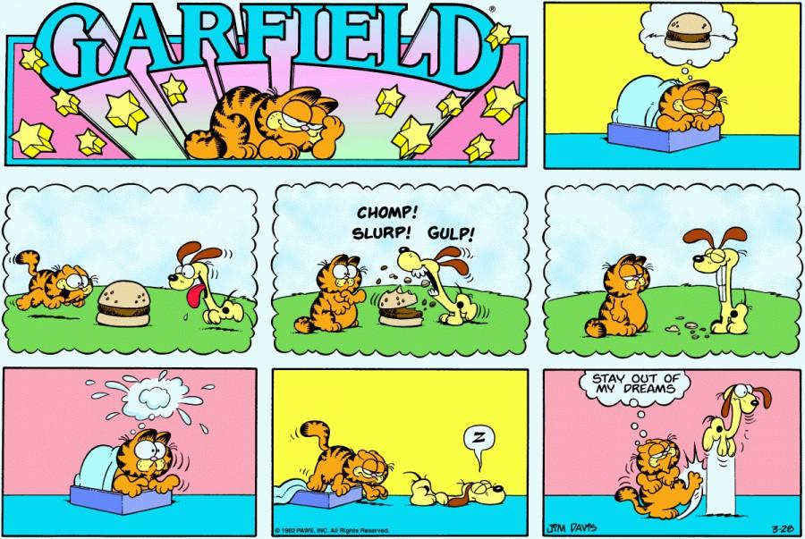 Оригинал комикса про Гарфилда от 28 марта 1982 года