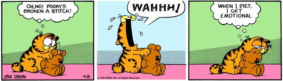 Оригинал комикса про Гарфилда от 08 апреля 1982 года