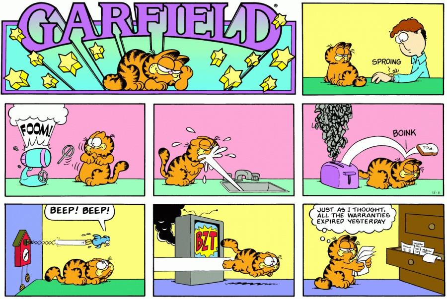 Оригинал комикса про Гарфилда от 11 апреля 1982 года