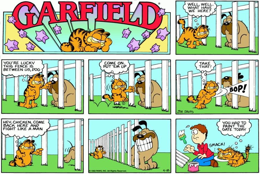 Оригинал комикса про Гарфилда от 18 апреля 1982 года