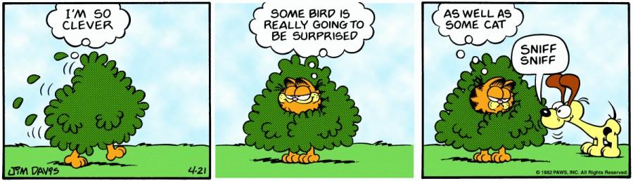 Оригинал комикса про Гарфилда от 21 апреля 1982 года
