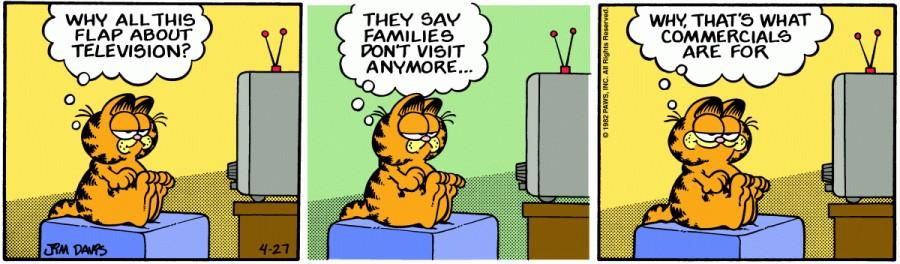 Оригинал комикса про Гарфилда от 27 апреля 1982 года