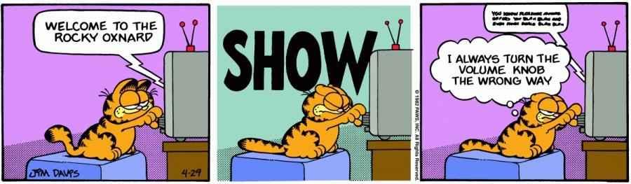 Оригинал комикса про Гарфилда от 29 апреля 1982 года