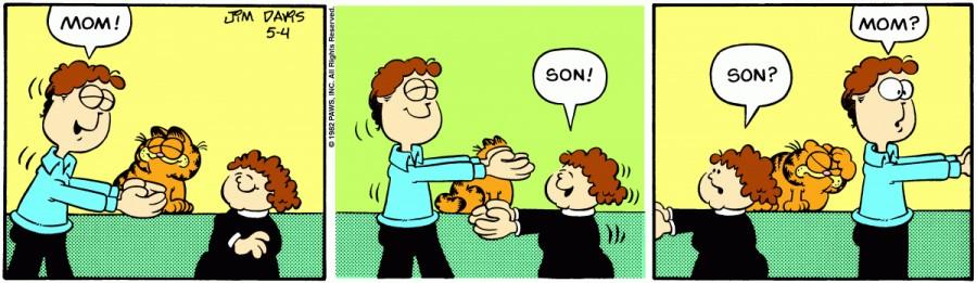 Оригинал комикса про Гарфилда от 04 мая 1982 года