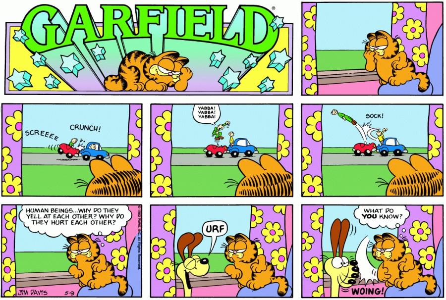 Оригинал комикса про Гарфилда от 09 мая 1982 года