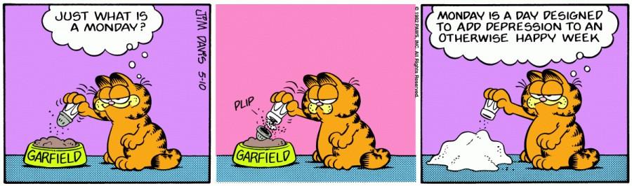 Оригинал комикса про Гарфилда от 10 мая 1982 года
