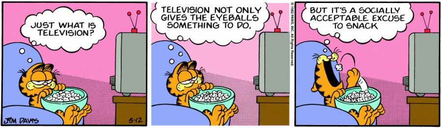 Оригинал комикса про Гарфилда от 12 мая 1982 года