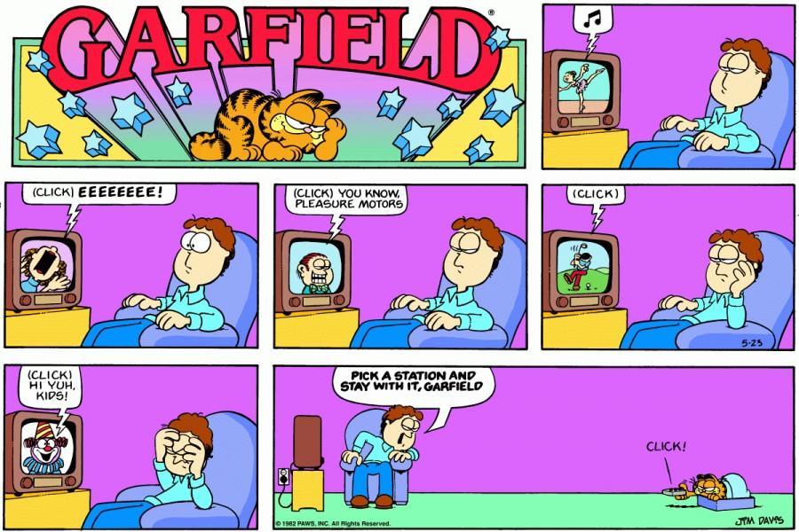 Оригинал комикса про Гарфилда от 23 мая 1982 года