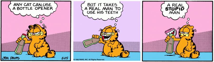 Оригинал комикса про Гарфилда от 25 мая 1982 года