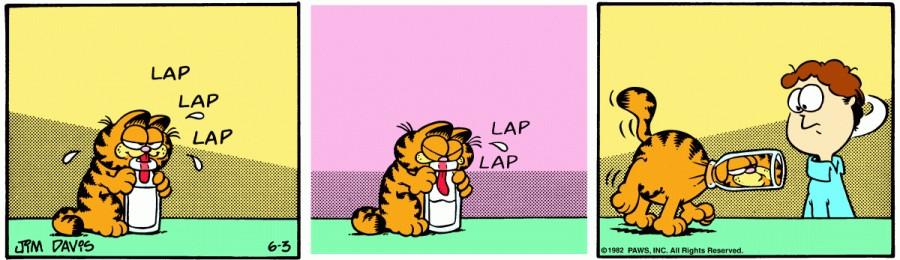 Оригинал комикса про Гарфилда от 03 июня 1982 года
