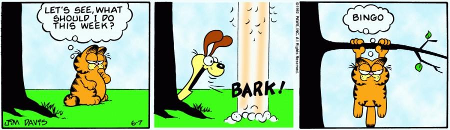 Оригинал комикса про Гарфилда от 07 июня 1982 года