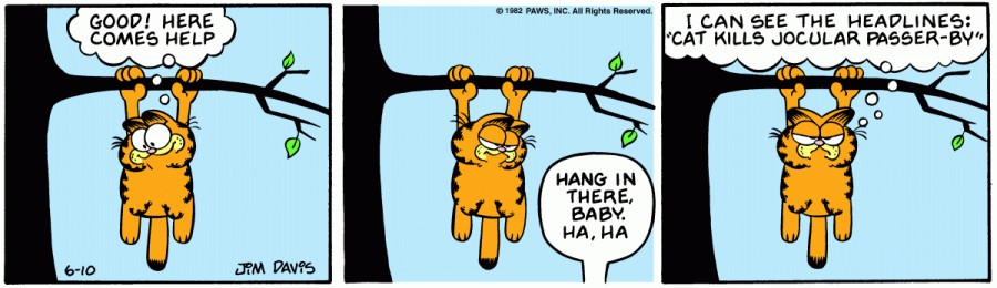 Оригинал комикса про Гарфилда от 10 июня 1982 года