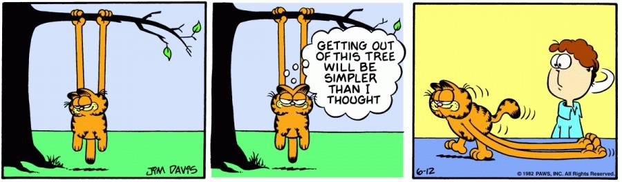 Оригинал комикса про Гарфилда от 12 июня 1982 года