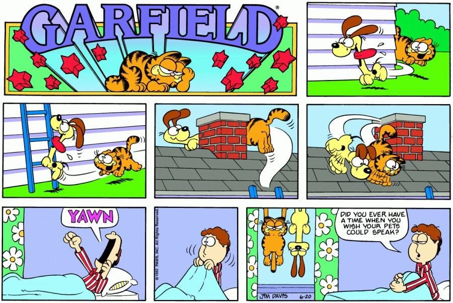 Оригинал комикса про Гарфилда от 20 июня 1982 года