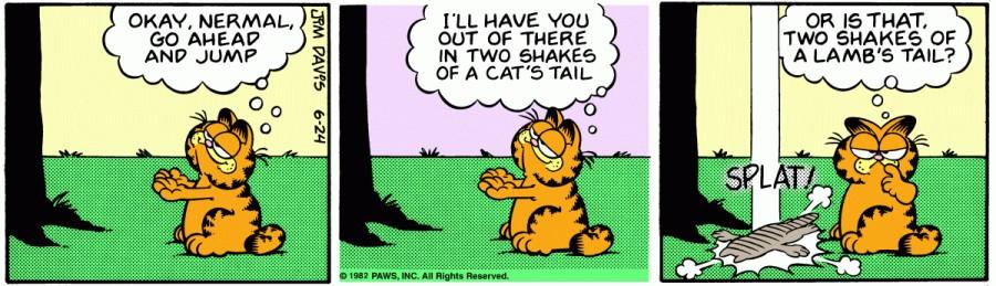 Оригинал комикса про Гарфилда от 24 июня 1982 года