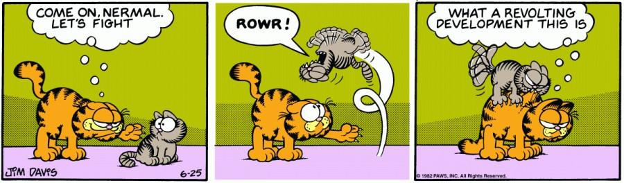 Оригинал комикса про Гарфилда от 25 июня 1982 года