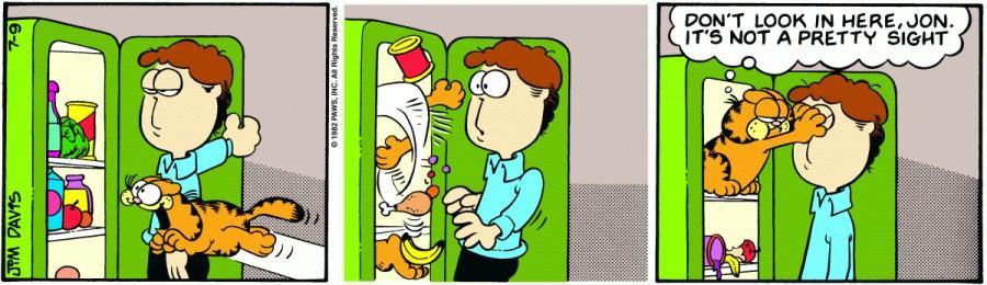 Оригинал комикса про Гарфилда от 09 июля 1982 года